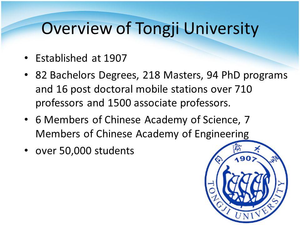 Overview of Tongji University
