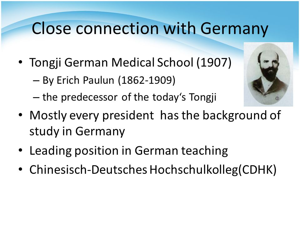 Close connection with Germany