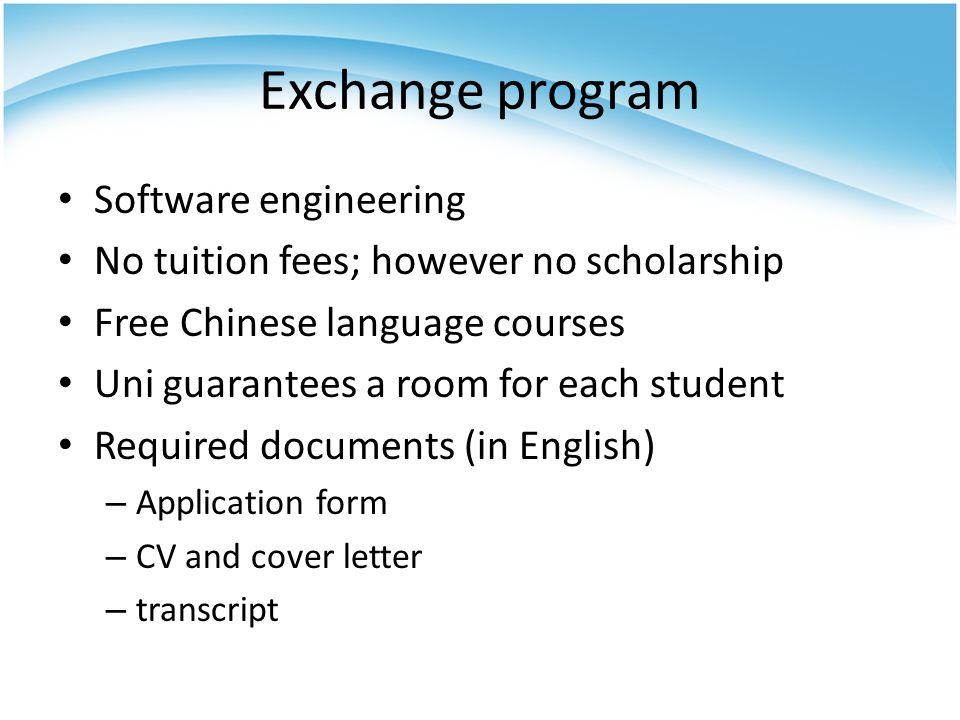 Exchange program Software engineering