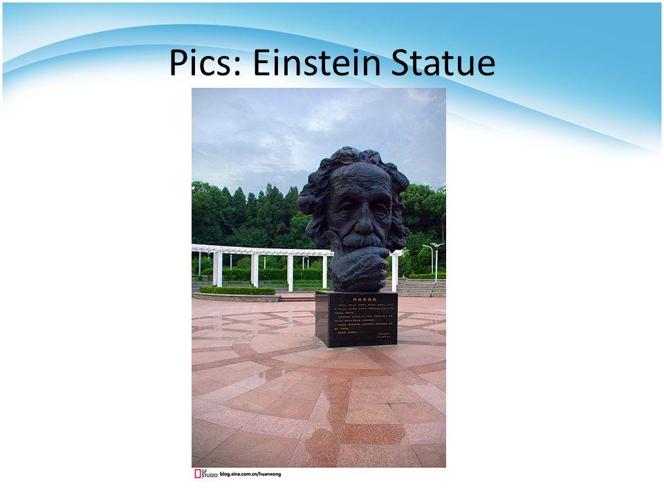 Pics: Einstein Statue