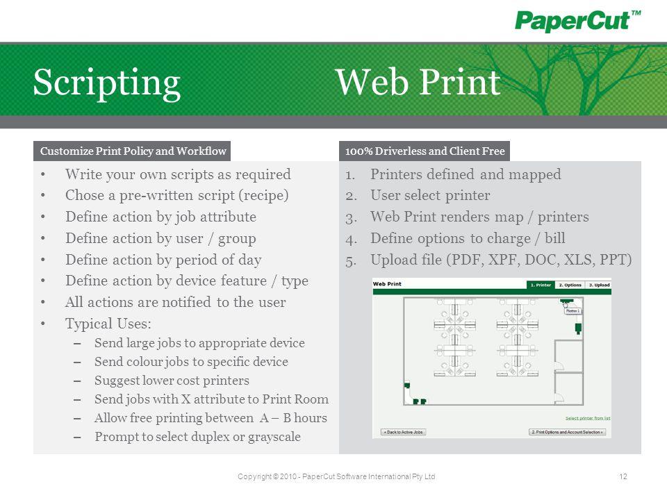 Copyright © 2010 - PaperCut Software International Pty Ltd