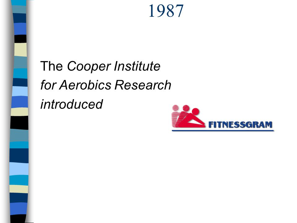 1987 The Cooper Institute for Aerobics Research introduced