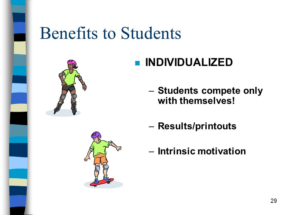 Benefits to Students INDIVIDUALIZED