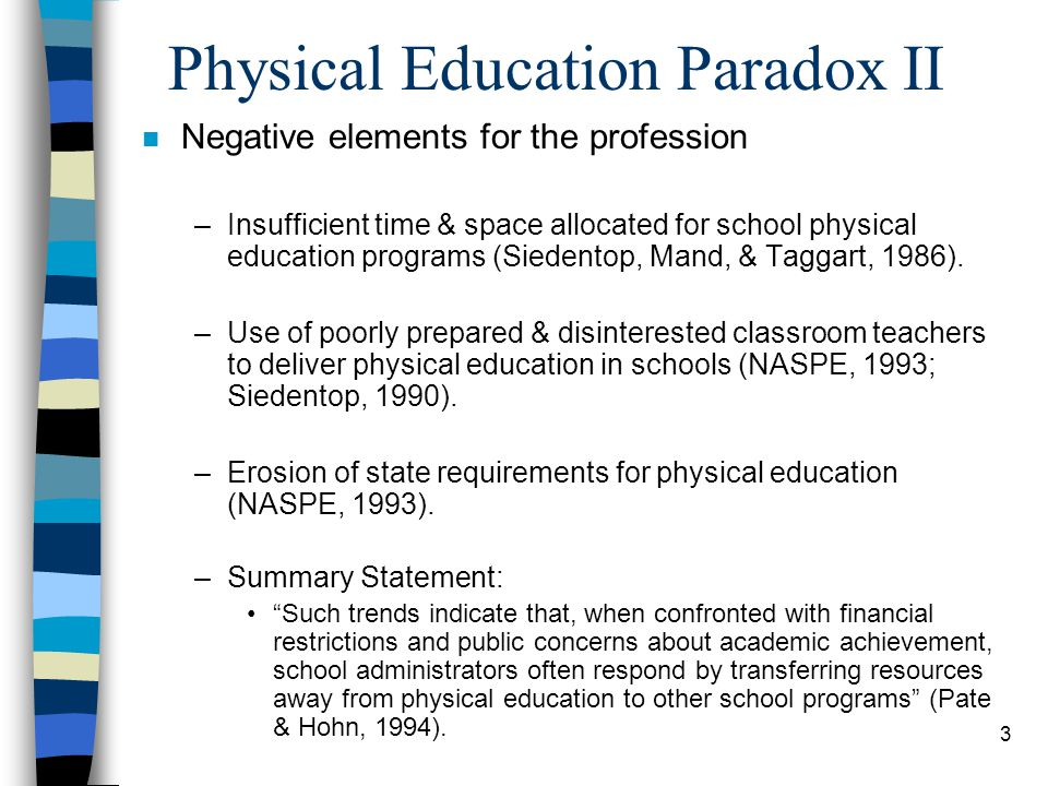 Physical Education Paradox II