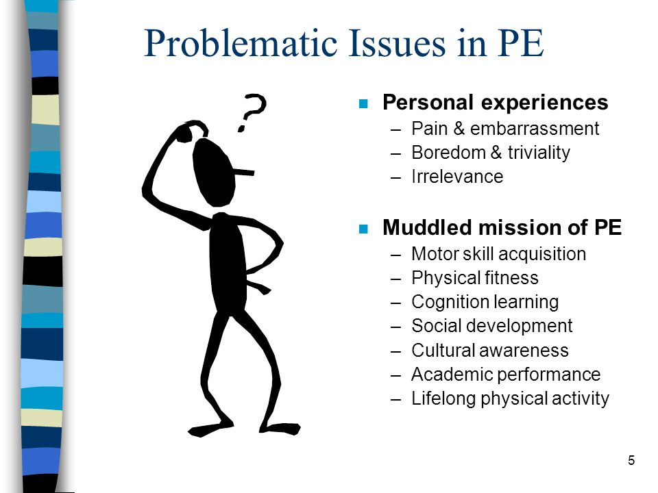 Problematic Issues in PE