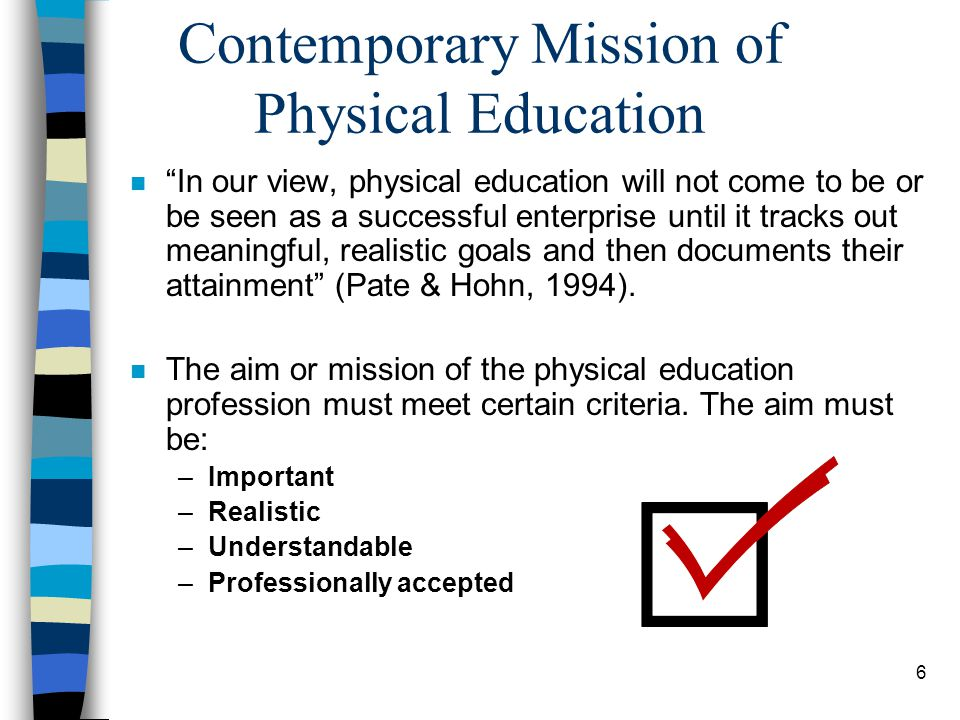 Contemporary Mission of Physical Education