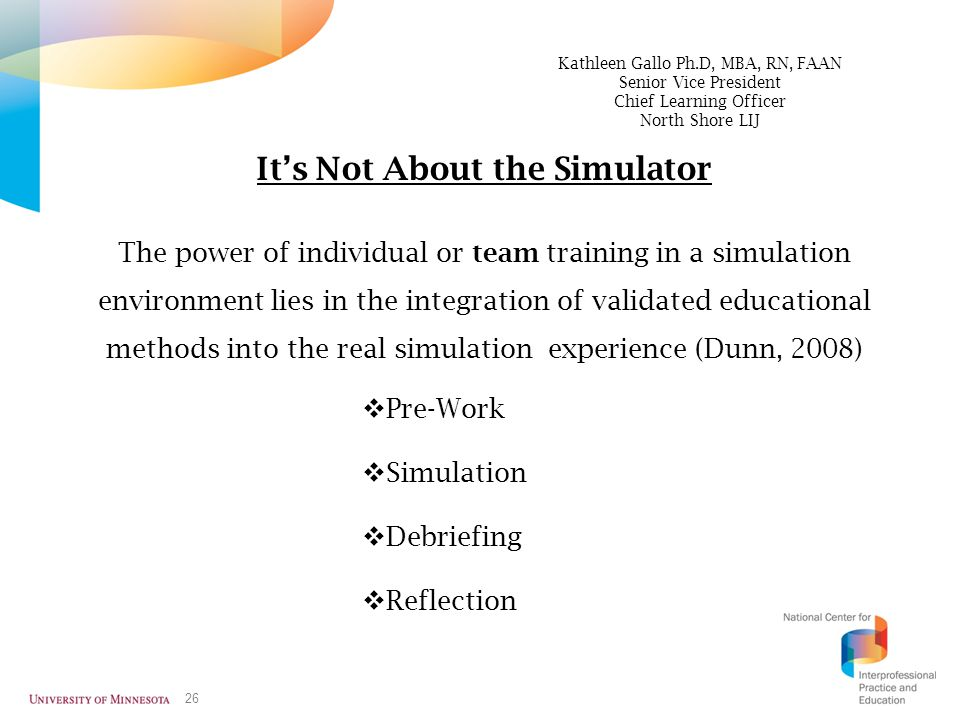It's Not About the Simulator