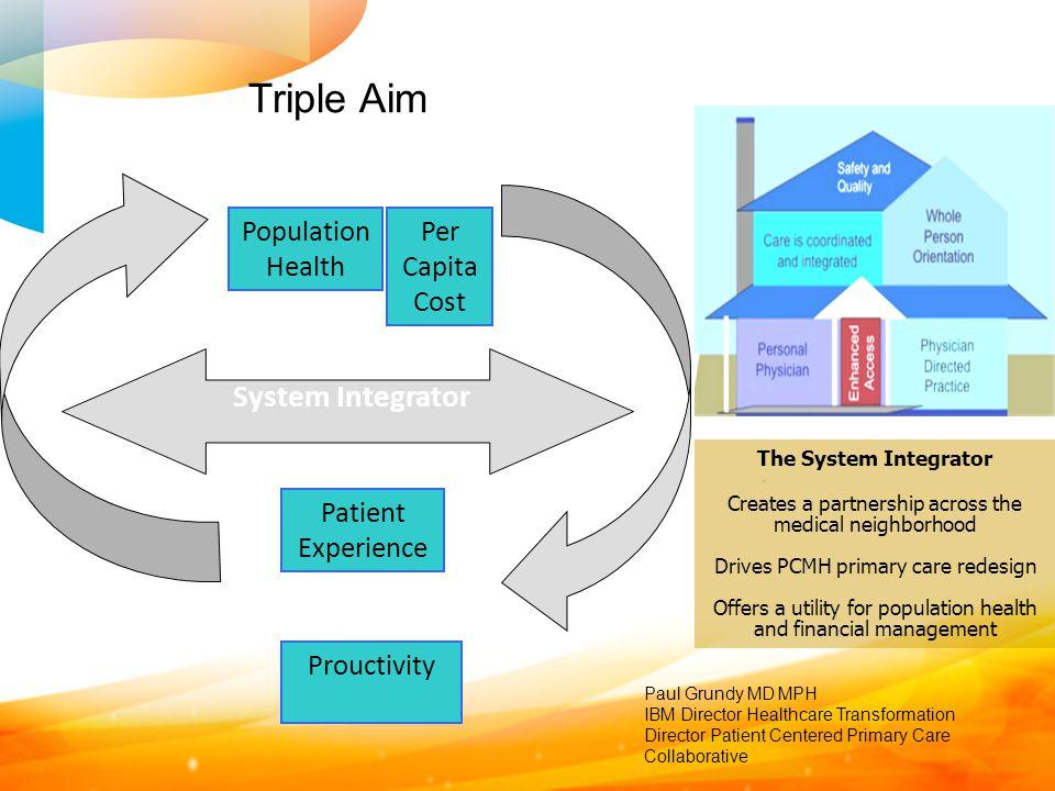 Triple Aim System Integrator Population Health Per Capita Cost Patient
