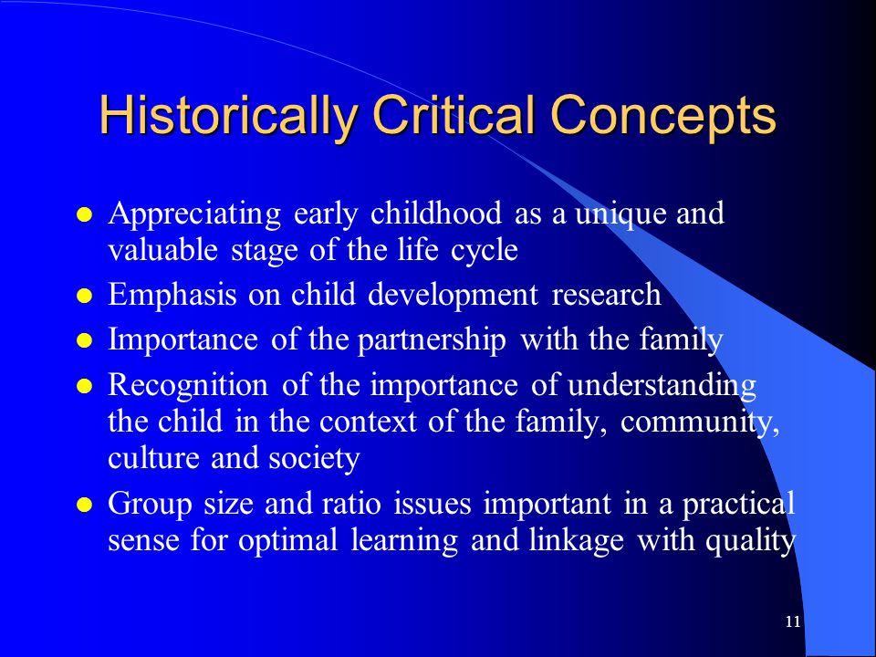 Historically Critical Concepts