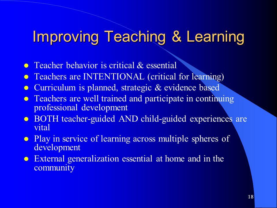 Improving Teaching & Learning