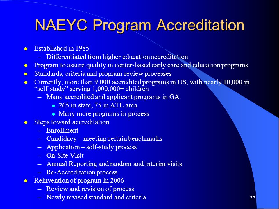 NAEYC Program Accreditation