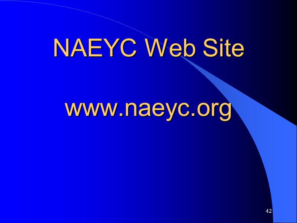 NAEYC Web Site www.naeyc.org