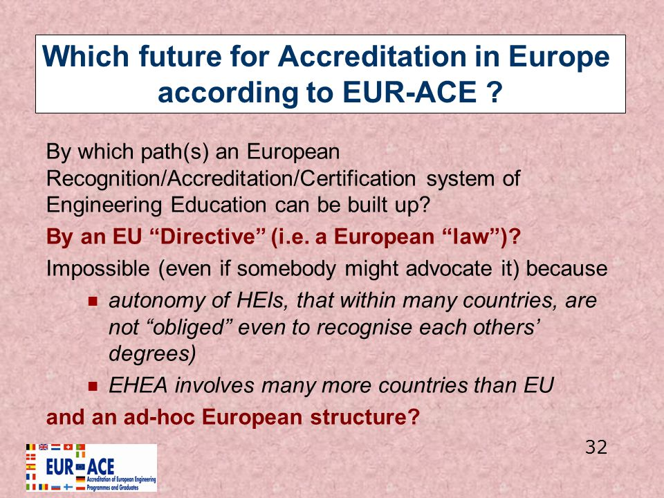 Which future for Accreditation in Europe according to EUR-ACE