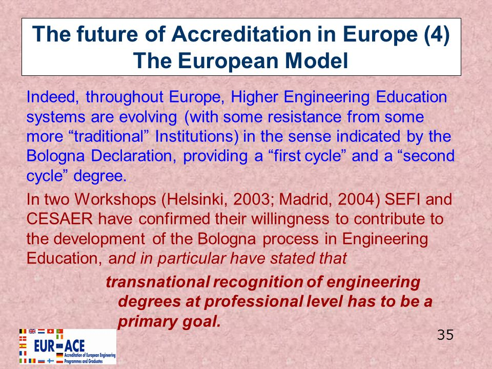 The future of Accreditation in Europe (4) The European Model