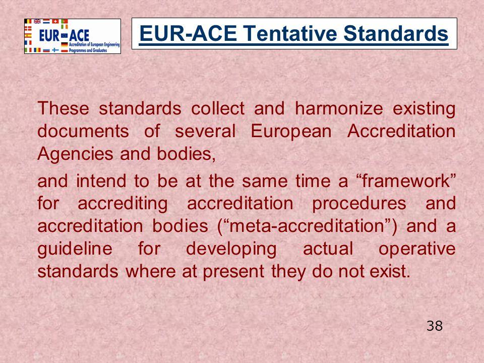 EUR-ACE Tentative Standards