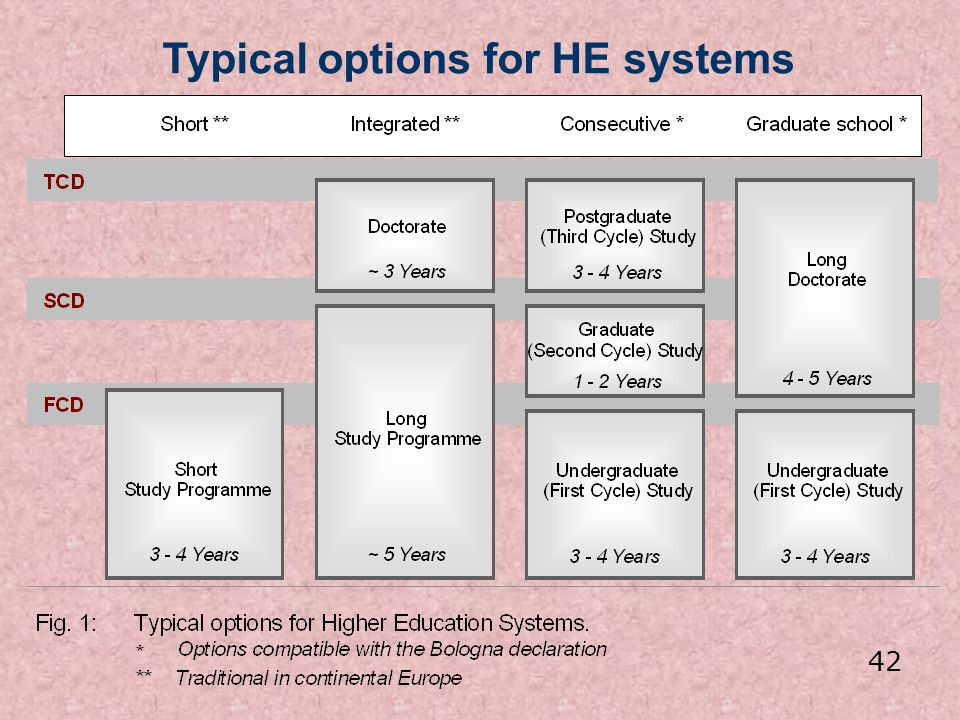 Typical options for HE systems