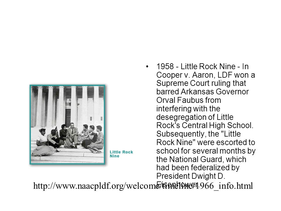 1958 - Little Rock Nine - In Cooper v