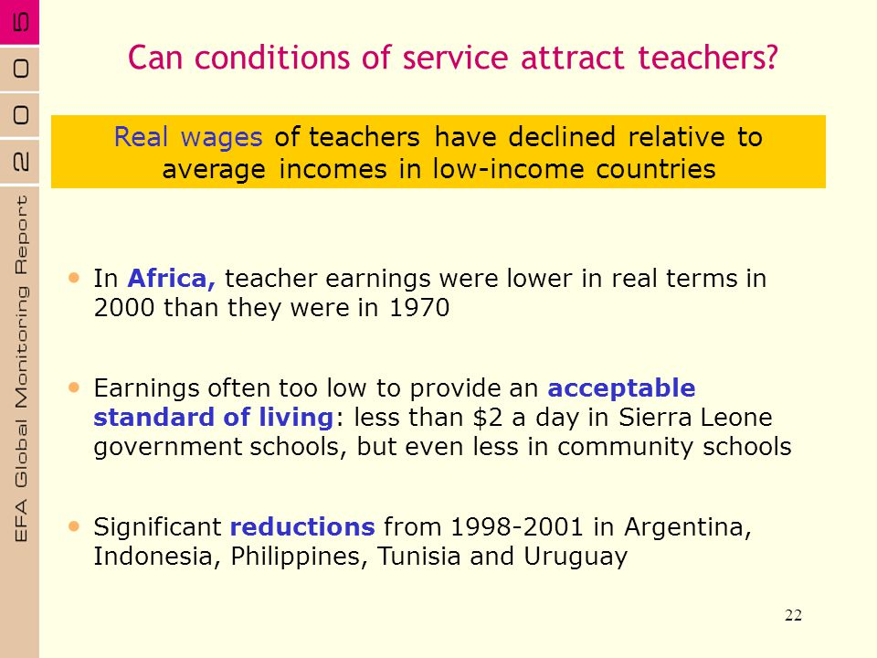 Can conditions of service attract teachers