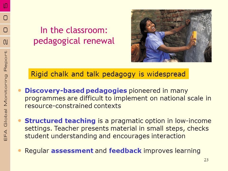In the classroom: pedagogical renewal