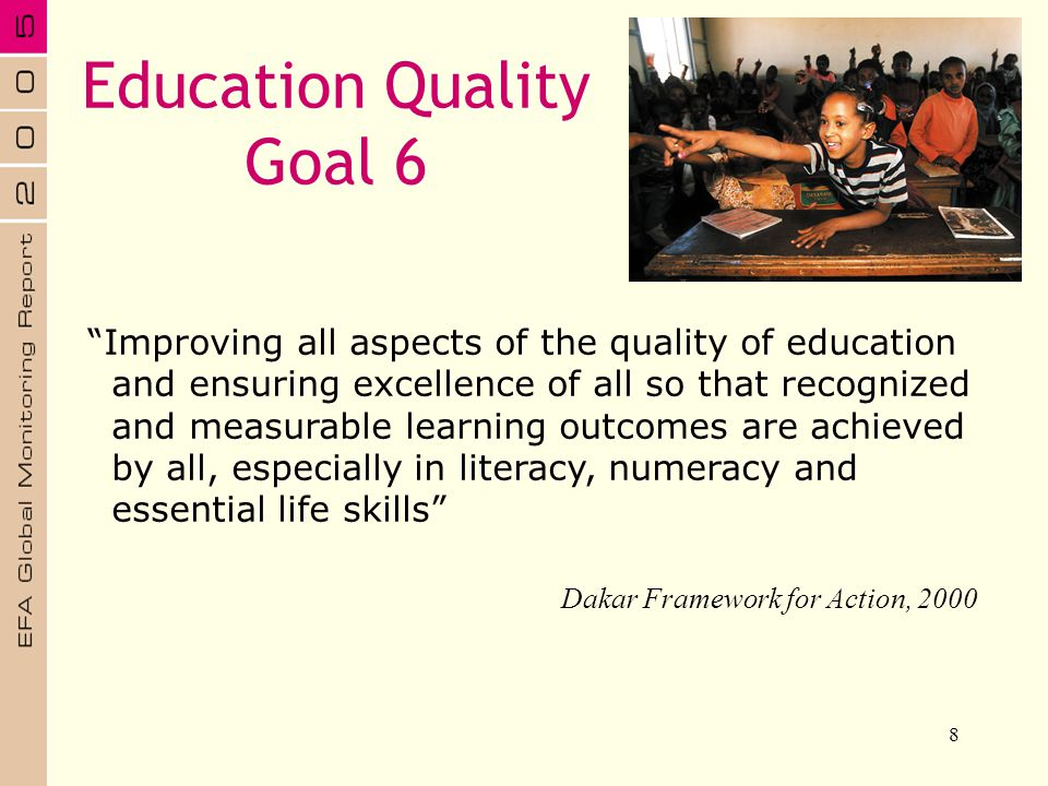 Education Quality Goal 6