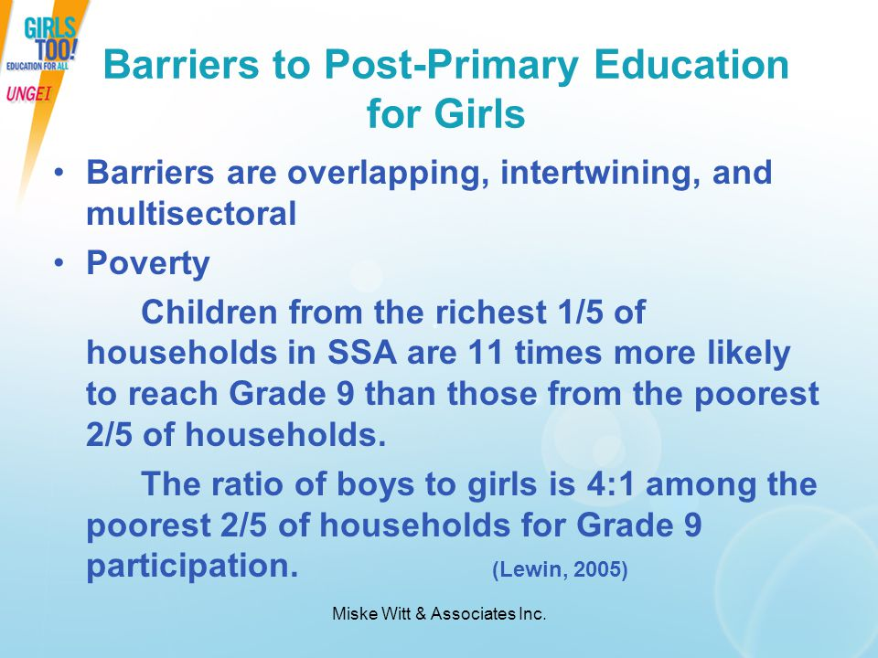 Barriers to Post-Primary Education for Girls