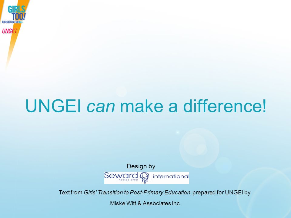 UNGEI can make a difference!