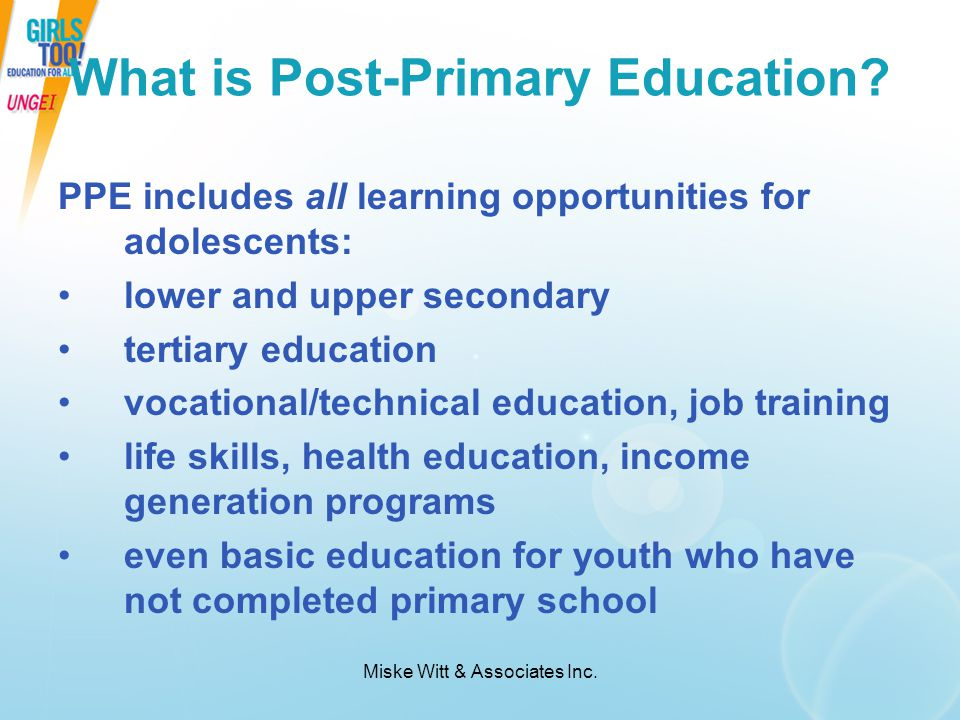 What is Post-Primary Education