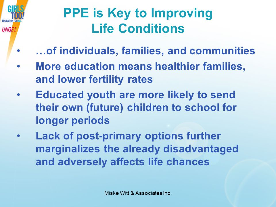 PPE is Key to Improving Life Conditions