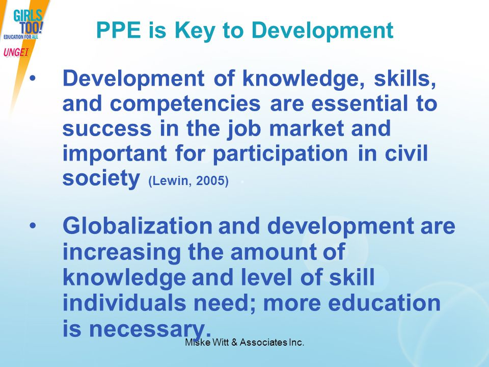 PPE is Key to Development