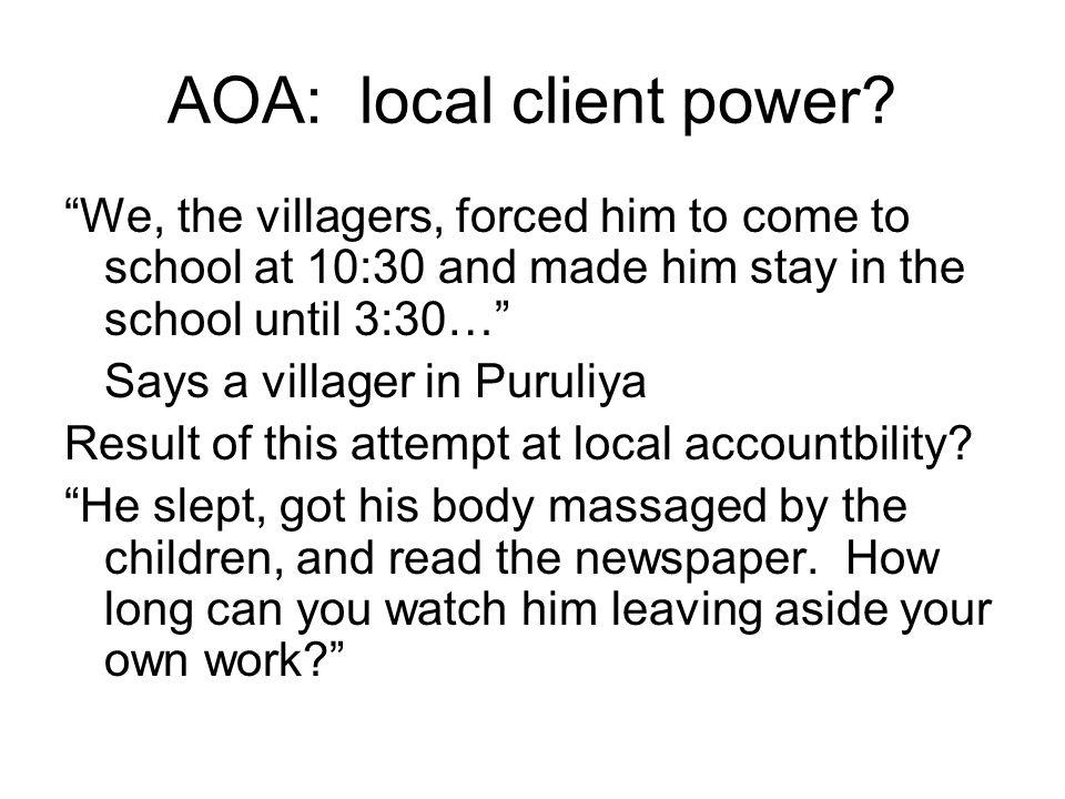 AOA: local client power