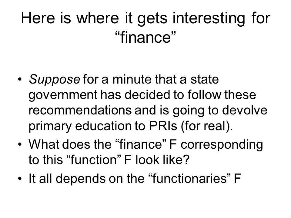 Here is where it gets interesting for finance