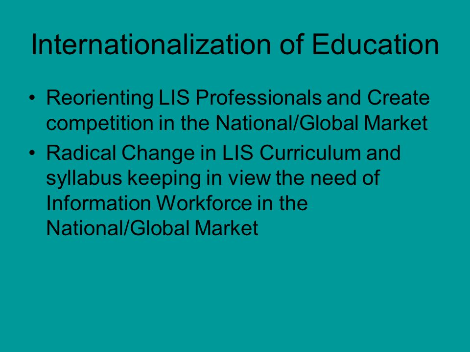 Internationalization of Education