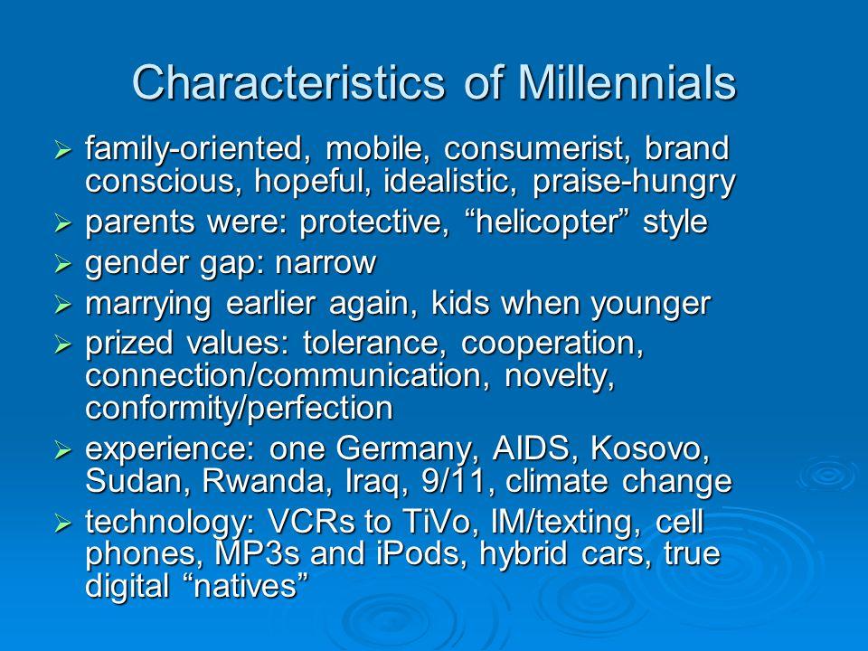 Characteristics of Millennials