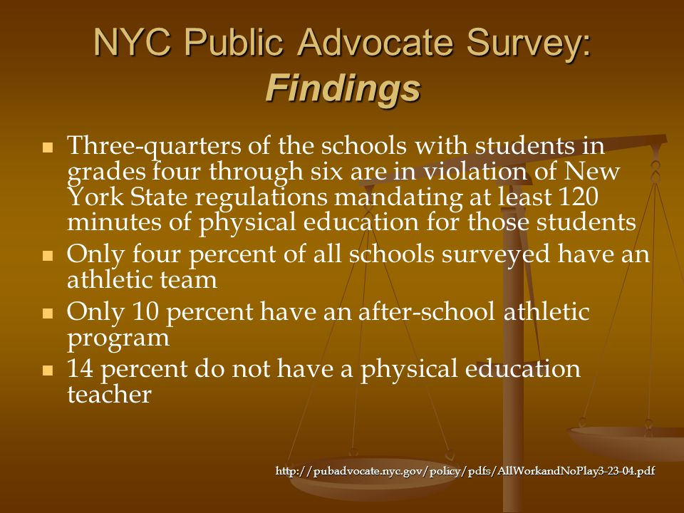 NYC Public Advocate Survey: Findings