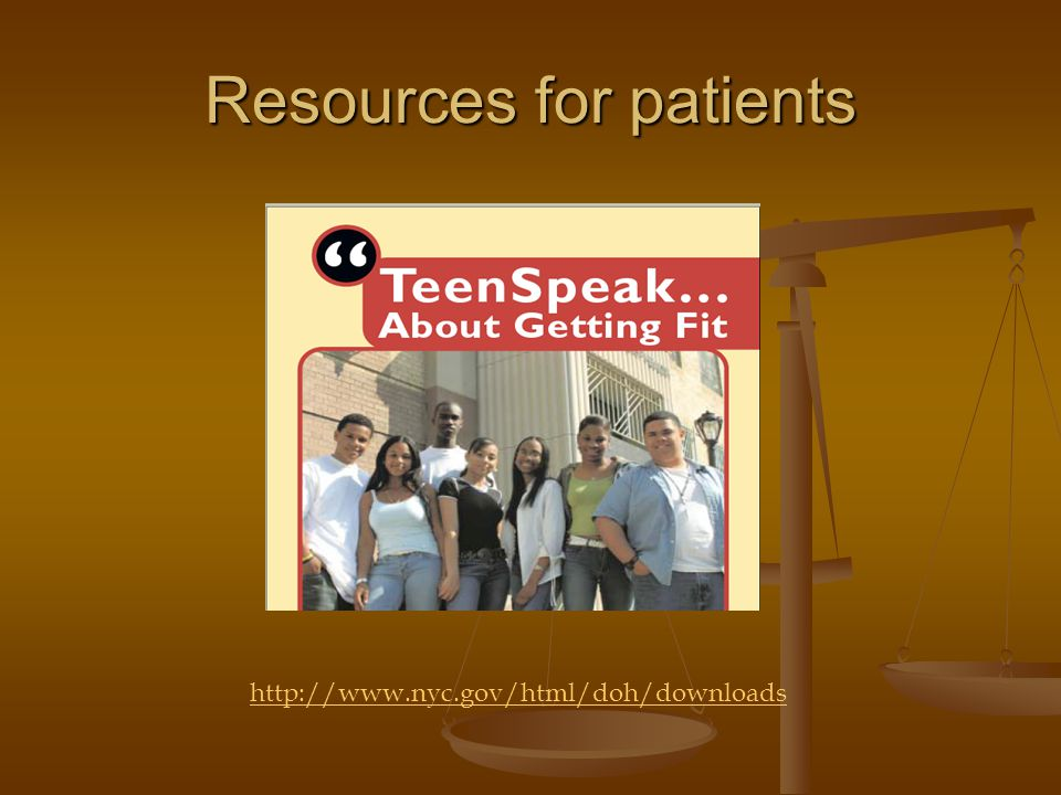 Resources for patients