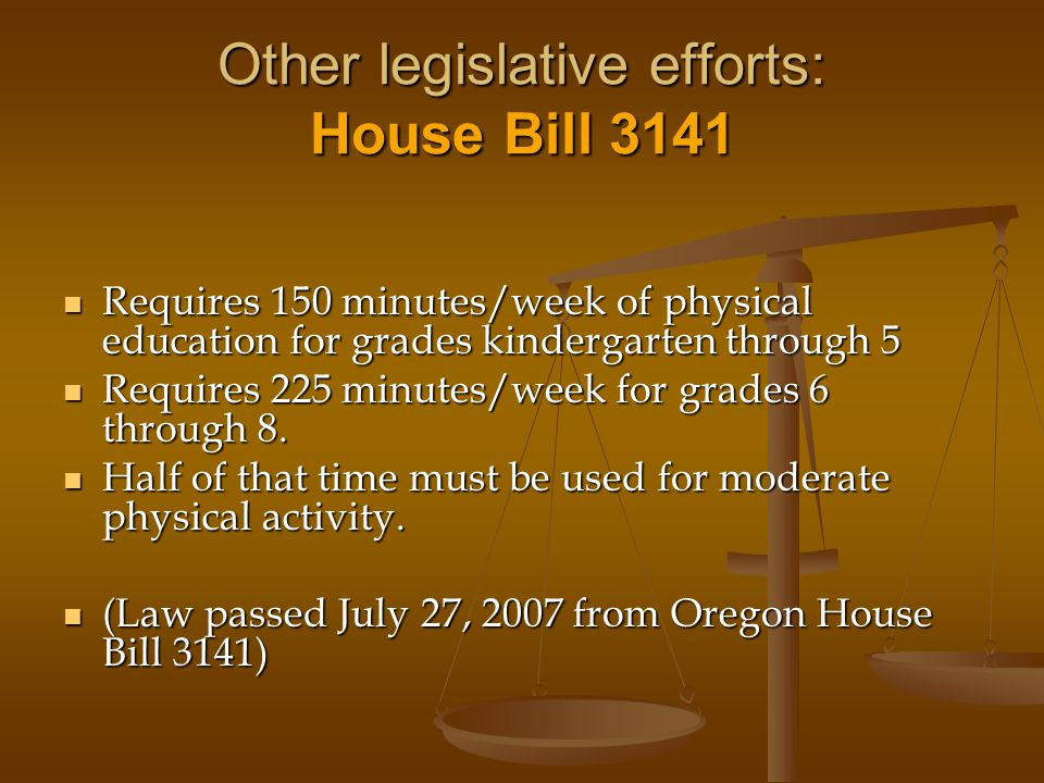 Other legislative efforts: House Bill 3141