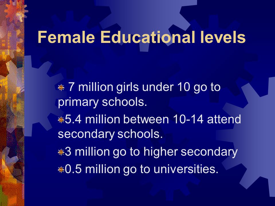 Female Educational levels