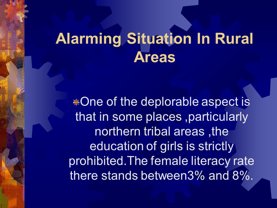 Alarming Situation In Rural Areas