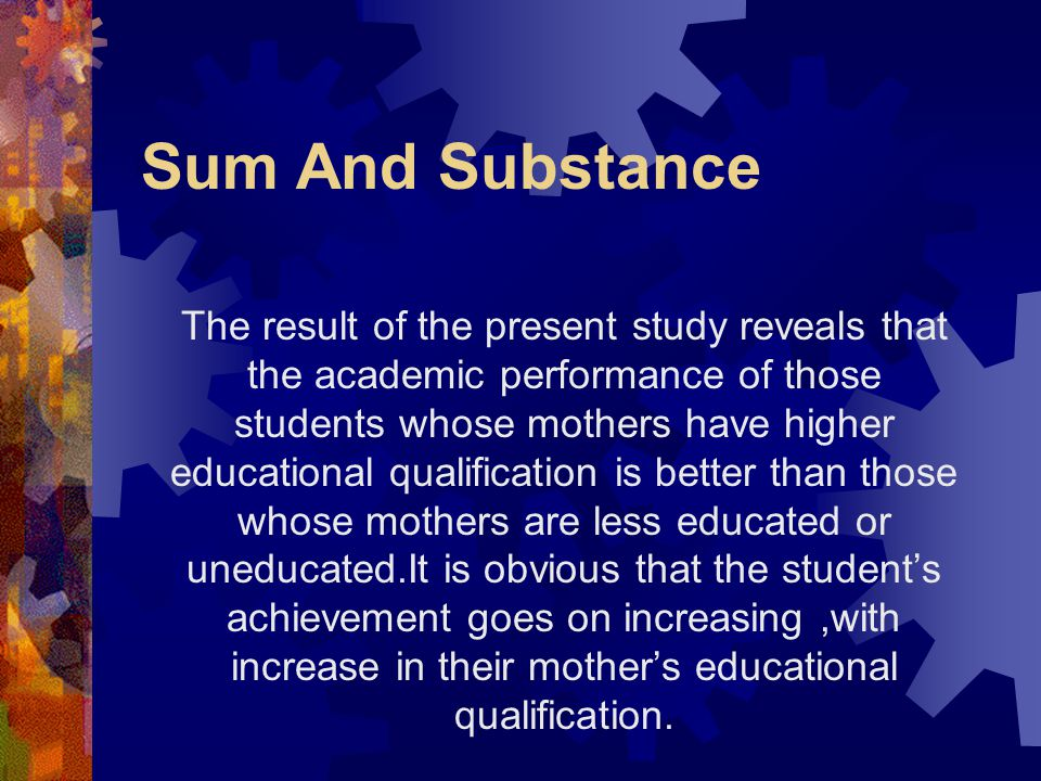 Sum And Substance