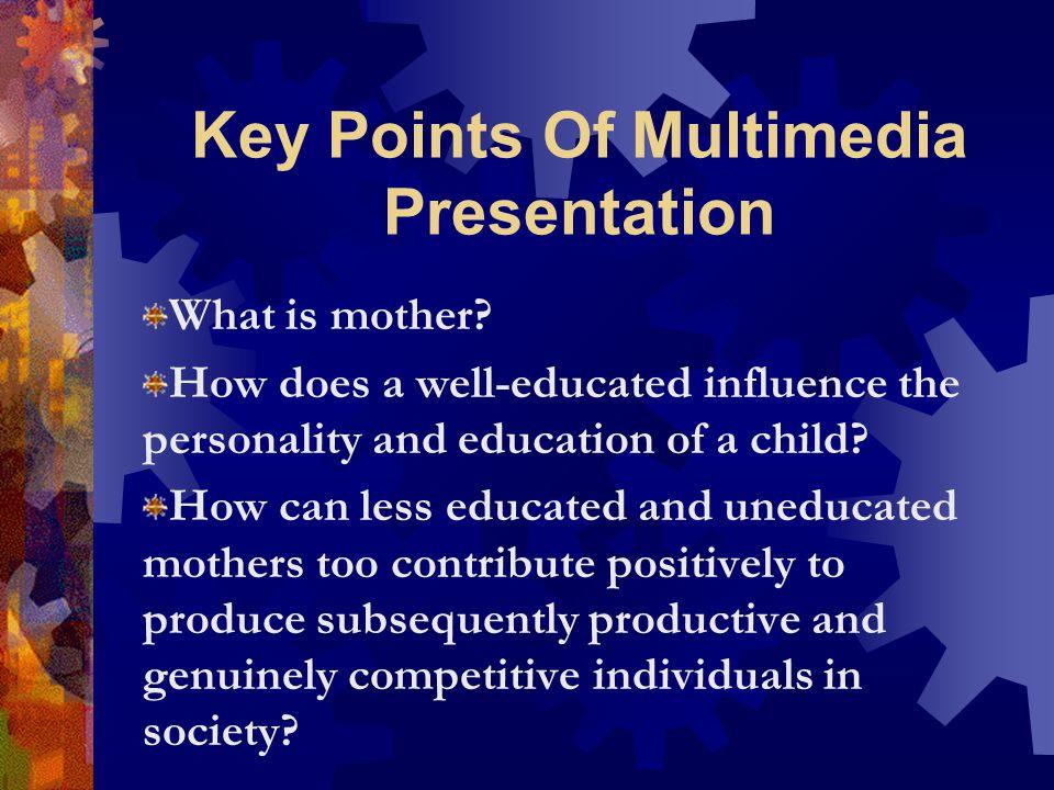 Key Points Of Multimedia Presentation