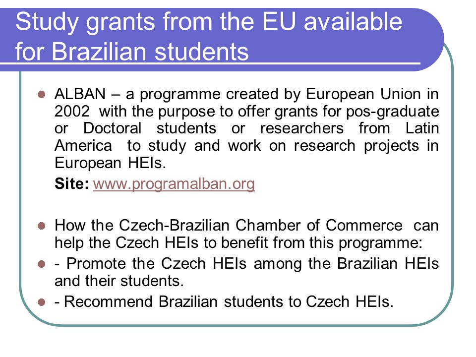 Study grants from the EU available for Brazilian students