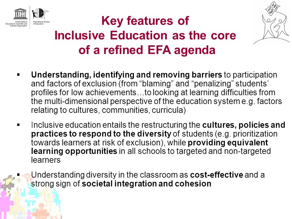 Inclusive Education as the core