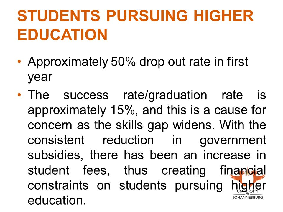 STUDENTS PURSUING HIGHER EDUCATION