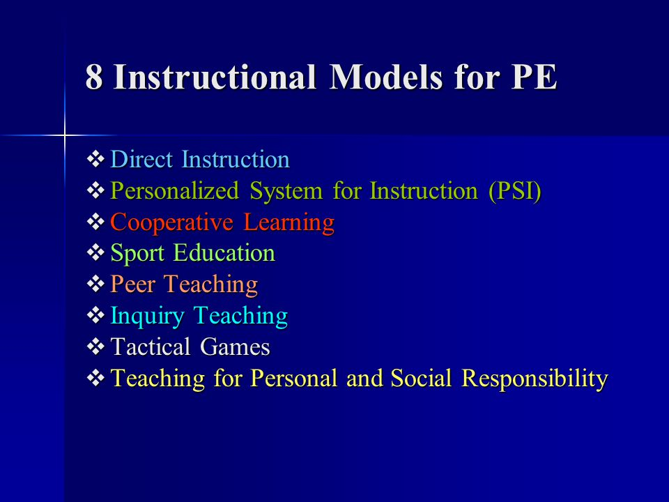 8 Instructional Models for PE