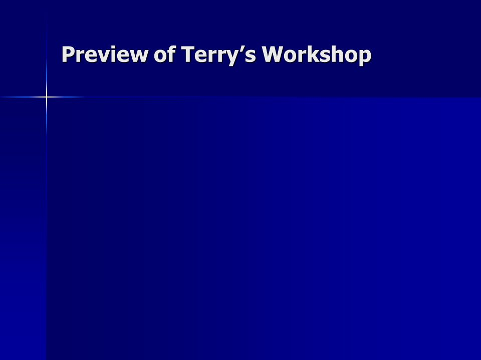 Preview of Terry's Workshop