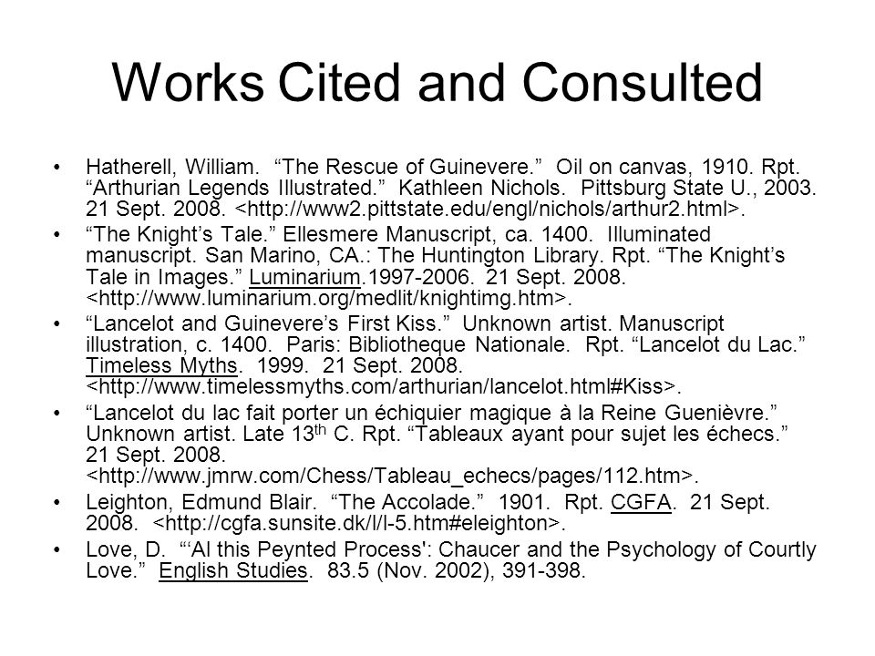 Works Cited and Consulted