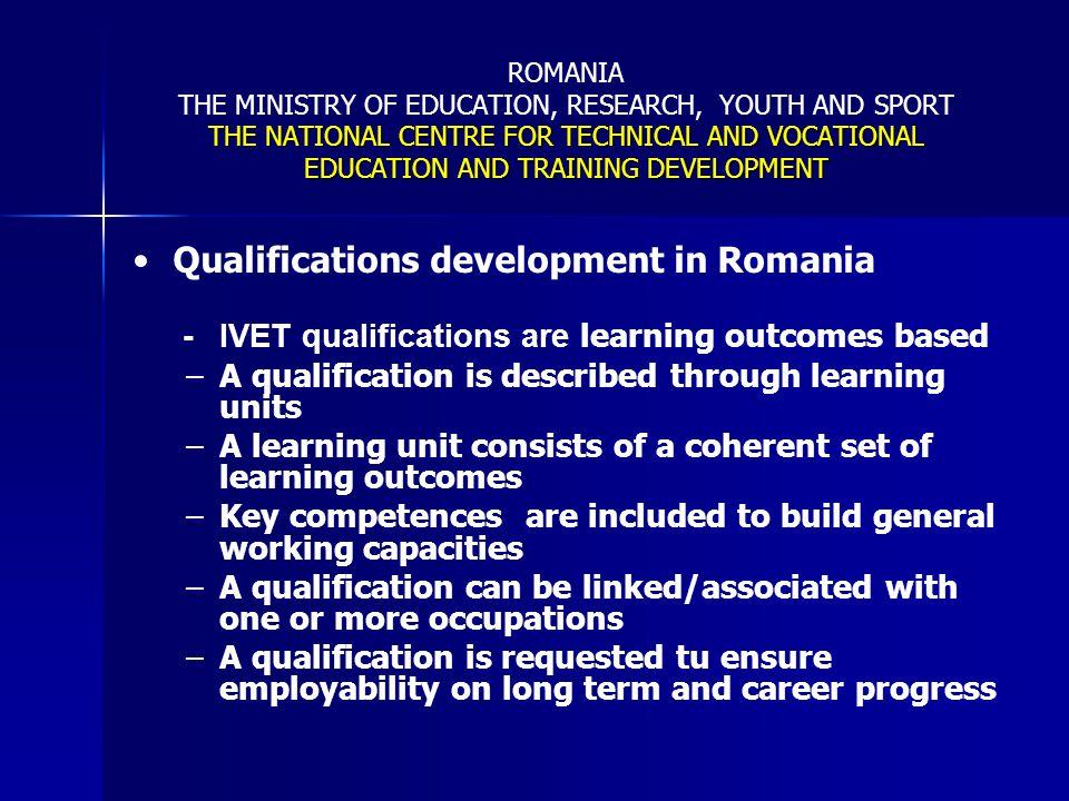 Qualifications development in Romania