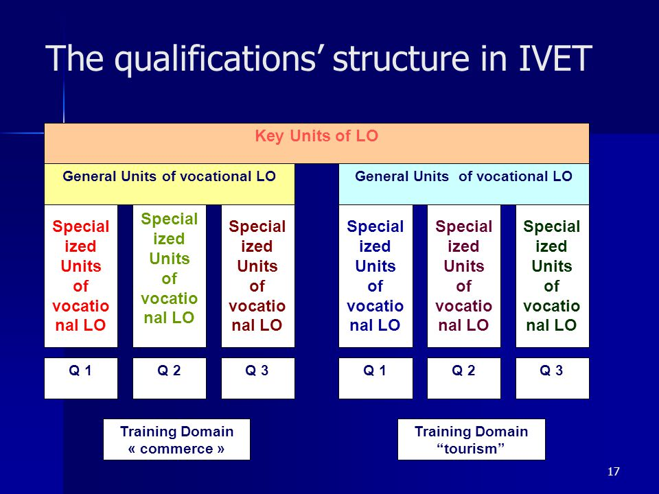 The qualifications' structure in IVET