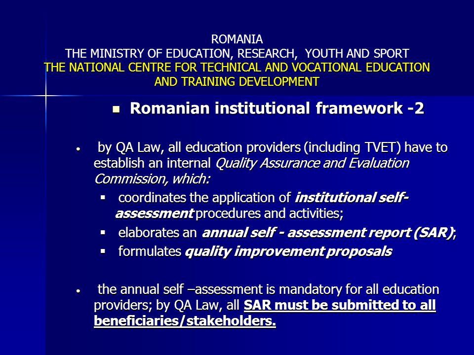 Romanian institutional framework -2