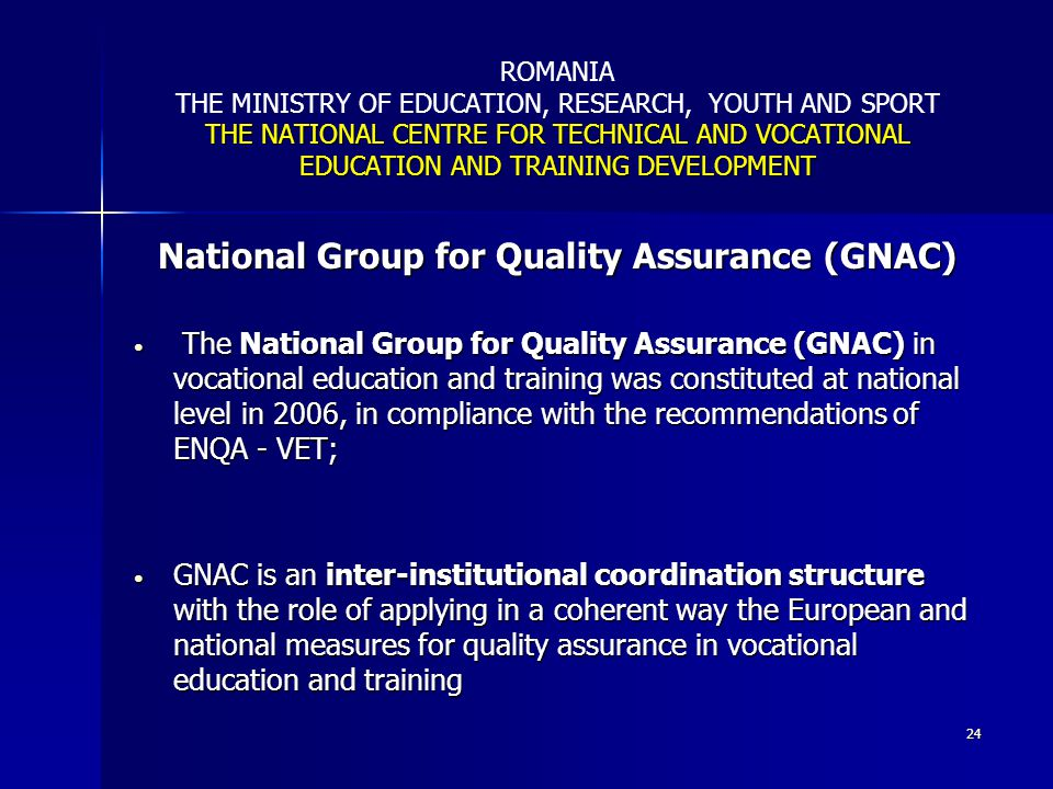 National Group for Quality Assurance (GNAC)